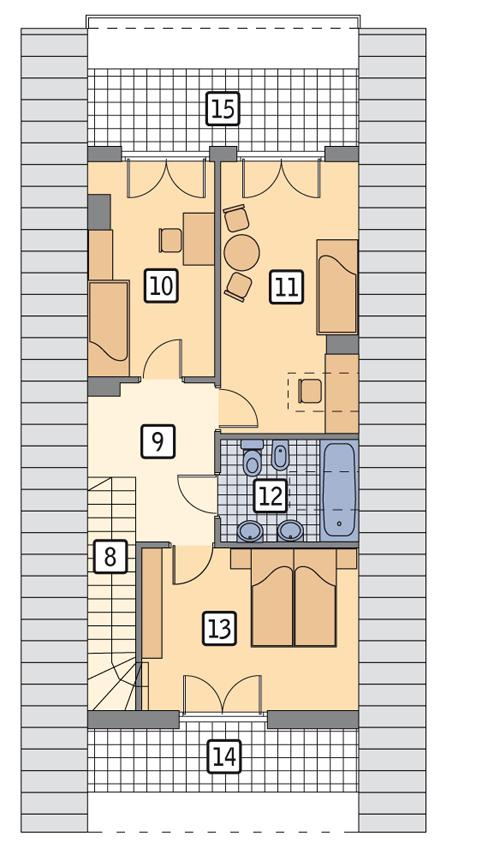 Rzut poddasza POW. 66,0 m²