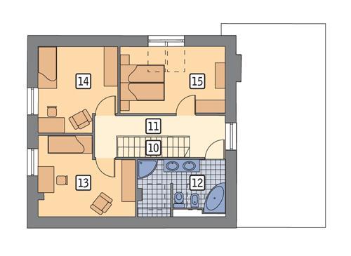 Rzut poddasza POW. 61,3 m²