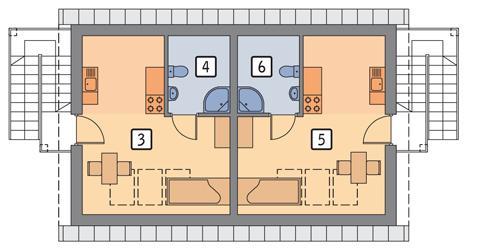 Rzut poddasza POW. 53,0 m²