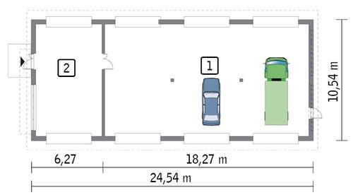 Rzut parteru POW. 228,1 m²