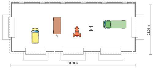 Rzut parteru POW. 338,8 m²