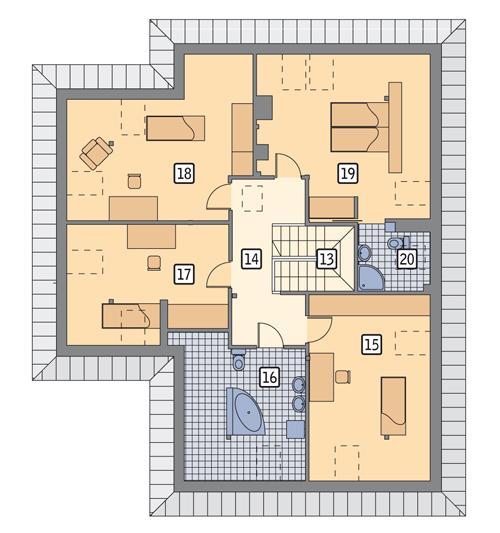 Rzut poddasza POW. 137,7 m²