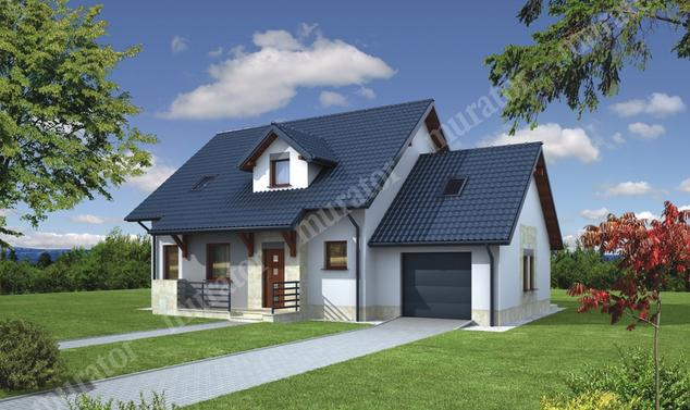 Projekt domu:  Murator C110   – Dom za rogiem