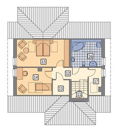 RZUT PODDASZA POW. 47,2 m²